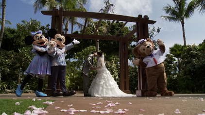 Here Is The First Wedding That Duffy Attended Along With Mickey And Minnie